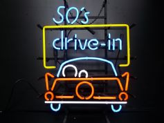 50s Drive-in neon sign